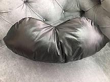 Подушка под голову - губы, чёрная