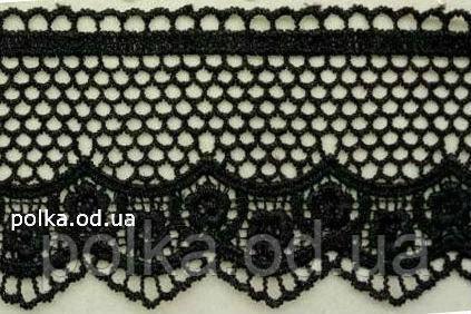 Кружево (12073),цвет черный(1 уп-20м)