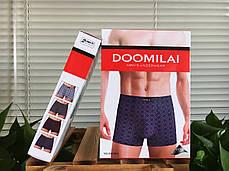 Мужские  стрейчевые боксеры Марка  «DOOMILAI» Арт.D-01065, фото 3