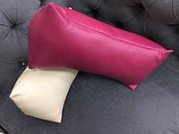 Подушка под голову - валик, фуксия, фото 1