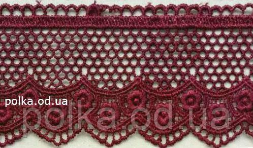 Кружево (12073),цвет темно красный(1 уп-20м)