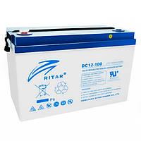 Батарея для ИБП 12В 100Aч AGM RITAR DC12-100, ШхДхВ 328x172x215