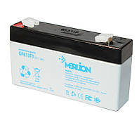 Батарея для ИБП 6В 1.3Ач AGM Merlion GP613F1 / 6V 1.3Ah / 97х25х58мм, Q40