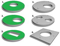 Плиты перекрытия колодца с полиэтиленовыми вкладышами Geoplas НDPE