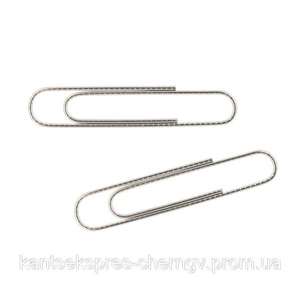 Скрепки никелированные Axent 4102-A, 50 мм, 100 штук