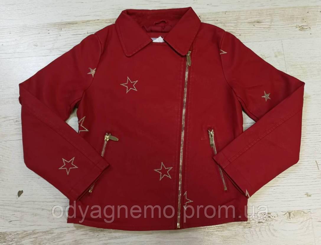 Кожаная куртка для девочек Glo-Story оптом, 92/98-128 рр.