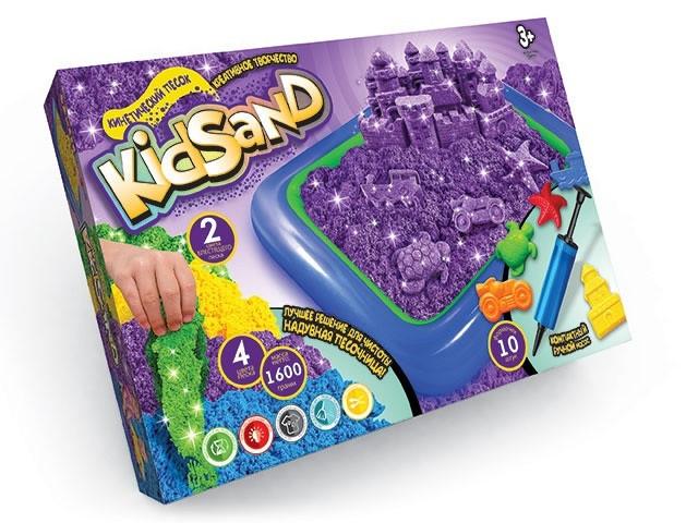 Набор для творчества Danko toys Кинетический песок KidSand 1600г + песочница (Рус) (KS-02-01)