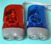 Ручной динамо фонарь 2 сверхъярких светодиода