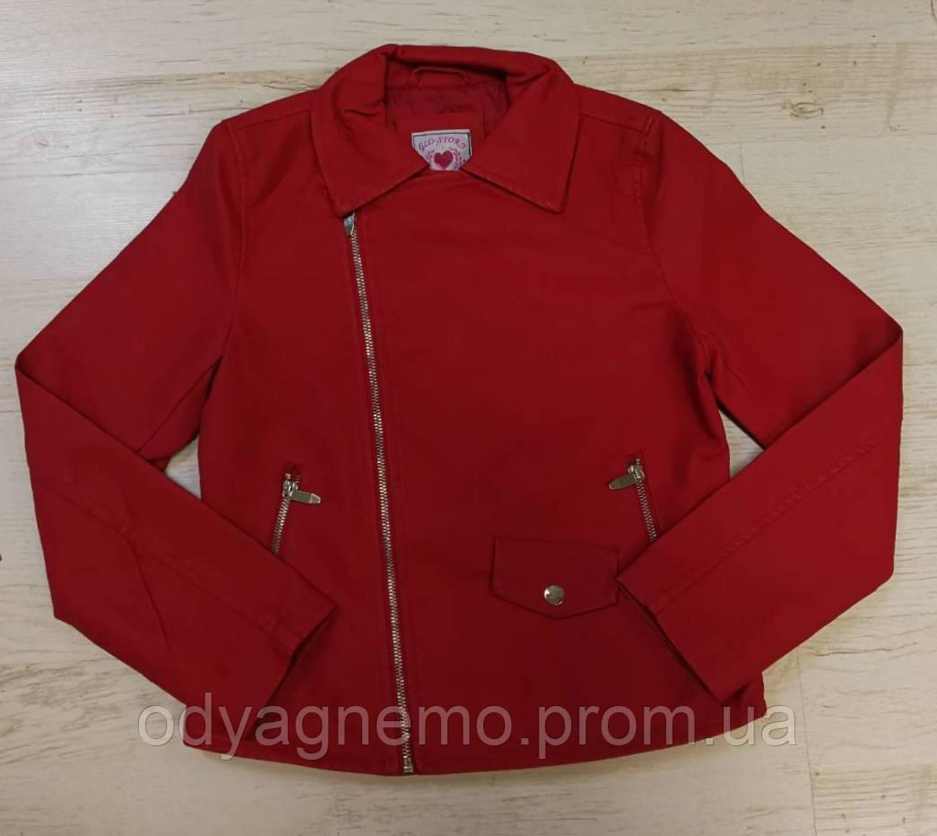 Шкіряна куртка для дівчаток Glo-Story оптом, 134/140-170 рр. Артикул: GPY5835