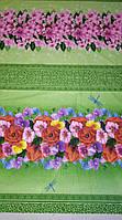 Вафельное полотно Цветы 150 см