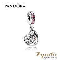 Pandora Шарм-подвеска ДЕРЕВО ЛЮБВИ #796592CZSMX серебро 925 Пандора оригинал, фото 1