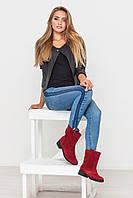 Замшевые ботинки цвет красный 35 - 41