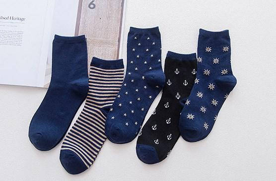 Набор темно-синих мужских носков (5 пар)