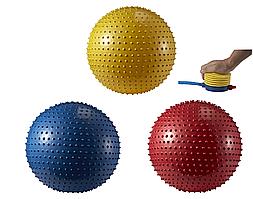 Фитбол массажный, (JOEREX), диаметр 65 см +насос
