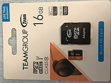 Team MicroSDHC UHS-1 16GB + SD-adapter(TUSDH16GUHS03) micro sd class 10