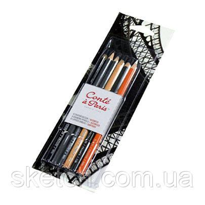 Набір пастельних олівців Conte Drawing, 6шт/уп
