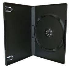 Коробка Бокс для 1 DVD диска 9mm Black глянцевая пленка