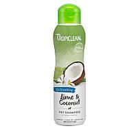 TropiClean Lime and Coconut Pet Shampoo шампунь для уменьшения линьки животных, 355мл