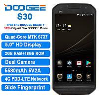 Изящный защищенный смартфон Doogee s30 IP68 с мощной батареей 5580мАч