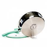 Сотейник Fissman VERSAILLES 24 см (Нержавеющая сталь, стеклянная крышка), фото 3