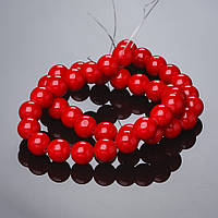 Бусины натуральный камень на нитке Коралл (пресс) 10мм