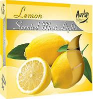 Свечи  ароматизированные лимон  антимоскитные 4шт, уценка