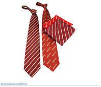 Корпоративный галстук и платок