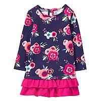 Детское теплое платье для девочки  12-18, 18-24 месяца, фото 1