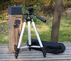 Штатив для камеры и смартфона трипод WT-3110A. Штатив тренога с регулировкой.