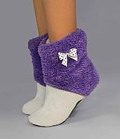 """Махровые тапочки-cапожки tm 12 """"Honey Purple"""""""