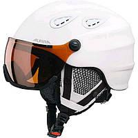 Шлем горнолыжный Alpina GRAP VISOR HM white matt A9093-10