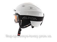 Комплект горнолыжный (Шлем + маска) Alpina JUNTA 2.0 SET white A9097-10 57-61