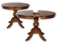 Стол РН круглый из массива дерева раскладной коллекция  «Полесье», фото 1