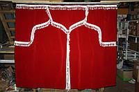 Комплект шторок MAN красные