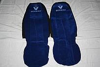 Чехлы на сиденья Рено синие