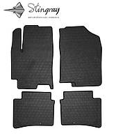 Hyundai accent 2017- комплект из 4-х ковриков черный в салон.