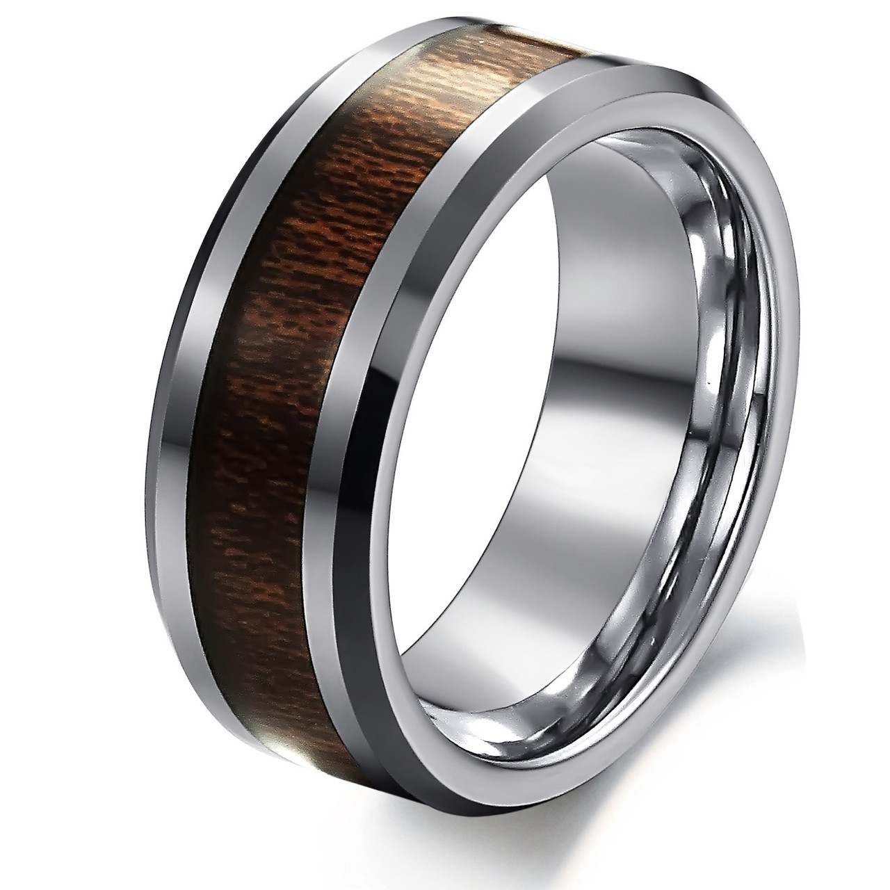 Мужское кольцо из карбида вольфрама и карбона, фото 1