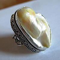 """Жемчужное кольцо  """"Океан"""" с  жемчугом, размер 19  от студии LadyStyle.Biz"""