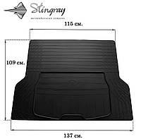 TRUNK MAT UNI BOOT L (137см Х 109см) Коврик багажника Черный