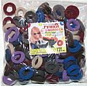 Бесшовная резинка для волос Калуш d 2,3 см 120 шт/уп цветная темная, фото 3