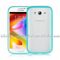 Чехол TPU Накладка для Samsung Grand dous i9082 Светло-синий