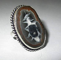 """Красивый перстень с септарией  """"Зодиак-2"""", размер 18,2  от студии LadyStyle.Biz"""