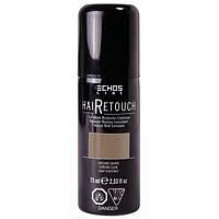 Спрей для окрашивания седины светло-коричневый Hair Retouch Echosline 75мл