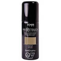 Спрей для окрашивания седины тёмный блондин Hair Retouch Echosline 75мл
