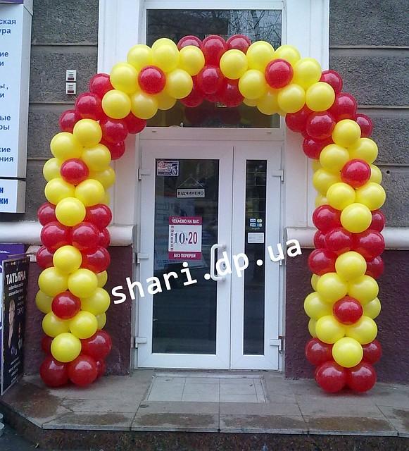Оформление магазинов воздушными шарами