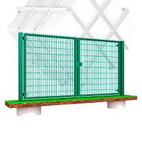 """Распашные ворота с задвижкой под навесной замок """"ТЕХНА МЕДИУМ"""" H-1680mm x L-4000mm"""