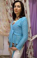 Гольф для беременных с бабочками ДЕЛОВАЯ МАМА (оранжевый, размер XL)