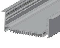 Дизайнерский LED-профиль врезной ЛСВ 70 для LED ленты анодированный, серебро (за 1м) Код.58705
