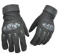 Перчатки тактические OAKLEY  (PL, закрытые пальцы, протектор-усилен, р-р M-XL, черный)
