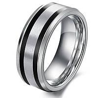 """Мужское кольцо из вольфрама """"Полоса"""", фото 1"""